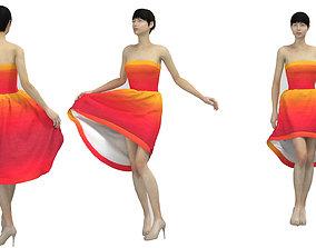 Cocktail Dress 3D woman