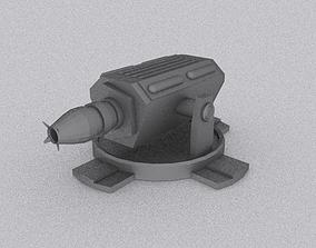 Laser Gun - Spacecraft Gun 3D model