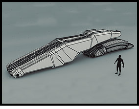 3D Sci-Fi Tank Pallet