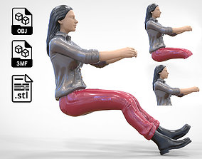 3D print model N3 Woman Driver 1 64 Miniature
