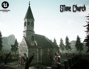 Stone Church Unreal Engine 3D model