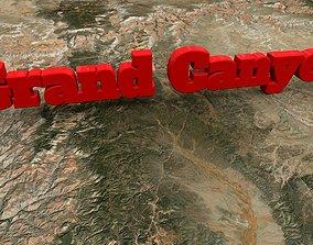 3D asset low-poly Grand Canyon