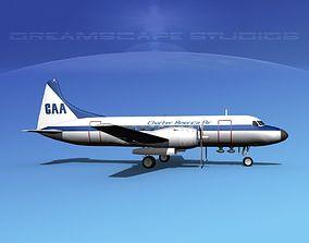 3D Convair CV-340 Charter America Air