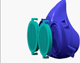 DOUBLE PROTECTION COVID MASK 3D print model