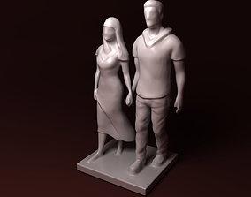 Walking together 3D print model