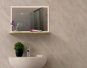 bathroom mirror set 3D model