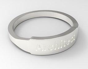 Architect Female Ring Silver 3D printable model