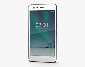 Nokia 2 Pewter White 3D model