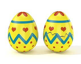 3D asset Easter Egg Cracked N007