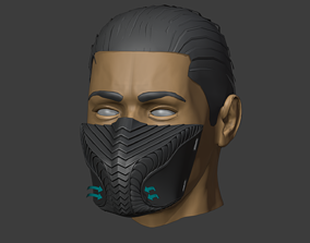 Viper mask with a protective 3D print model