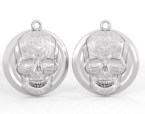cnc Pendant skull pattern 3D printable model