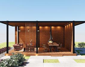 3D model Pergola patio in loft style