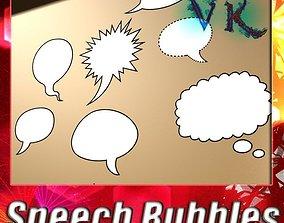 12 Speech Bubbles Collection 3D