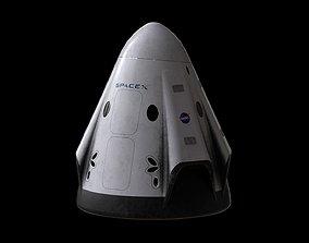 3D asset Crew Dragon SpaceX Pod