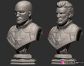 3D print model Captain America Bust - with 2 Heads from