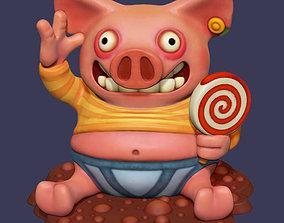 3D printable model Happy as a Pig Print Ready
