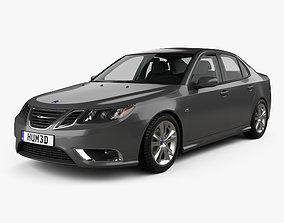 Saab 9-3 Sport Sedan with HQ interior 2008 3D model