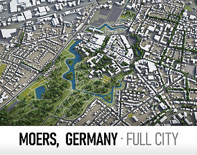 Moers - city and surroundings 3D model low-poly