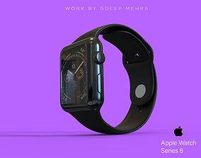 Apple Watch Series 6 44mm Stainless Steel 3D model