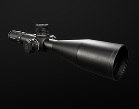 3D asset Schmidt and Bender 5-25x56 PM II Precision Rifle