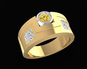 1565 Luxury Korea Diamond Men Ring 3D print model