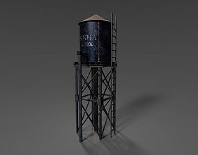 VR / AR ready WATER TOWER 3D ASSET GAME READY