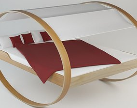 3D Modern Bed with Tent