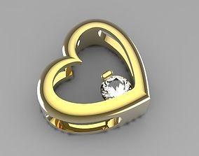 simple heart pendant pendants 3D print model