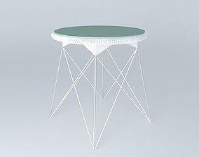 3D White table