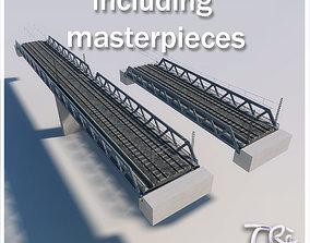 3D 3 IRON RAILWAY BRIDGE