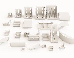 Profile aluminium angle brackets 3D model