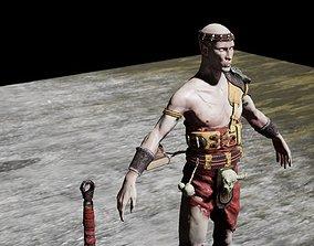 Necromant warior sword PBR 3D model