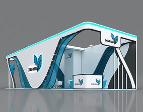 3D model Booth Exhibition Stand Stall 15x5m Height 400 4