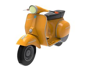 Classic Italian Piaggio Vespa Scooter 3D model