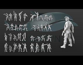 3D printable model 38 figure Sci fi soldier set