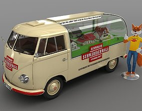 Vw T1 Van 1957 3D model