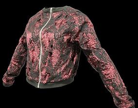 Red Glitter Jacket 3D asset