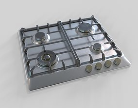 Gas Cooktop 3D asset