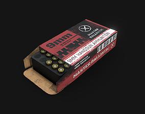 Ammo Pack PBR VR AR Ready 3D model