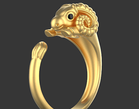 3D print model ram sheep ring horn