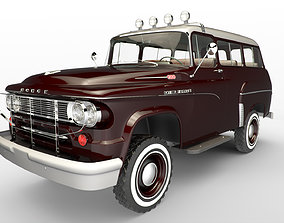 3D rigged Dodge Town Wagon 4x4