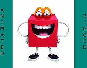 Happy meal McDonalds 3D asset