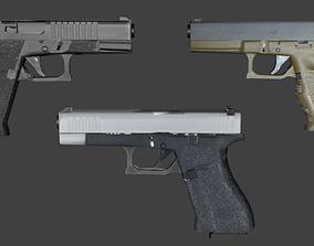 3D 9mm Pistol weapon
