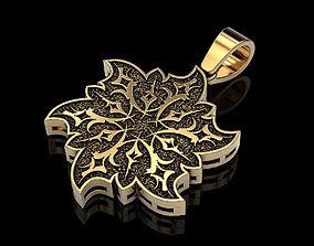 Pendant Snowflake Flower 3D print model