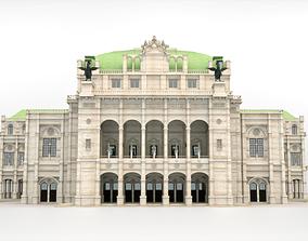 State opera building - Vienna Austria 3D