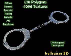 3D asset low-poly Handcuffs - Textured