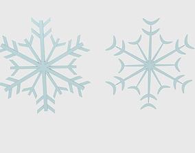 game-ready 3D Snowflake 1