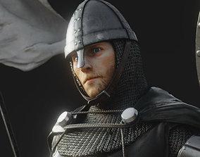 3D model rigged Hospitaler Knight
