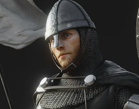 3D model rigged Hospitaler Knight