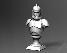 Clone Trooper Phase 1 Bust Fan Art 3D print model